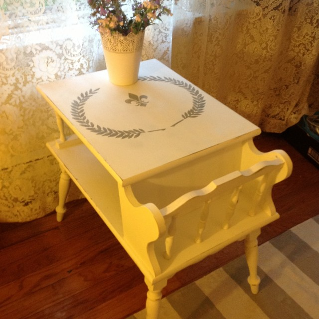 Vintage Ethan Allen Magazine Rack Table Traditional Other By