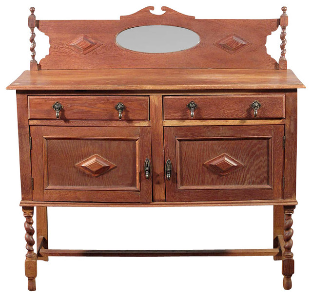 Antique Oak Jacobean Buffet Sideboard Server - Traditional - Buffets And Sideboards - by MBW ...