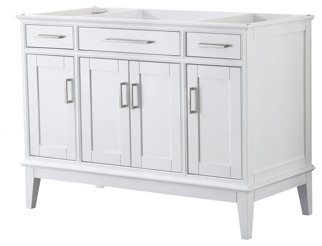 Margate 48 Inch Single Vanity With No Mirror Transitional Bathroom Vanities And Sink Consoles By Wyndham Collection