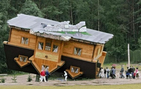 Daniel Czapiewski's Upside Down House- Szymbark, Poland