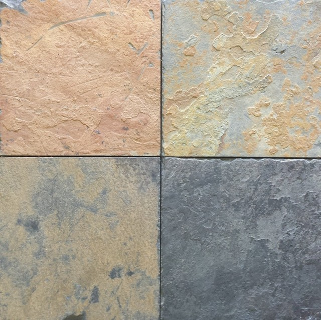 African Multi Color Slate Tiles Natural Cleft Face
