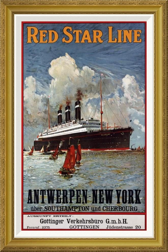 Blue 36x54 Giclee Gallery Print, Wall Decor Travel Poster New York Sailboat Coastal Icon