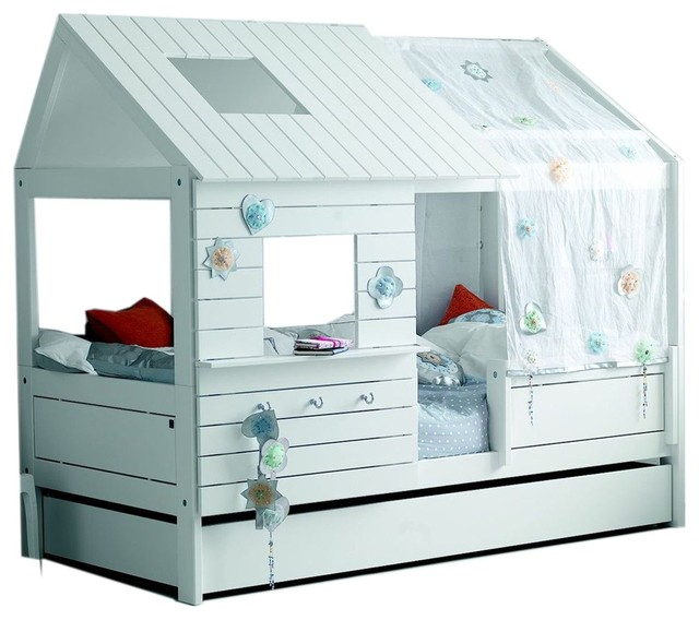 Alfred & Company Emilie Girl&x27;s Cabin Bed, White.