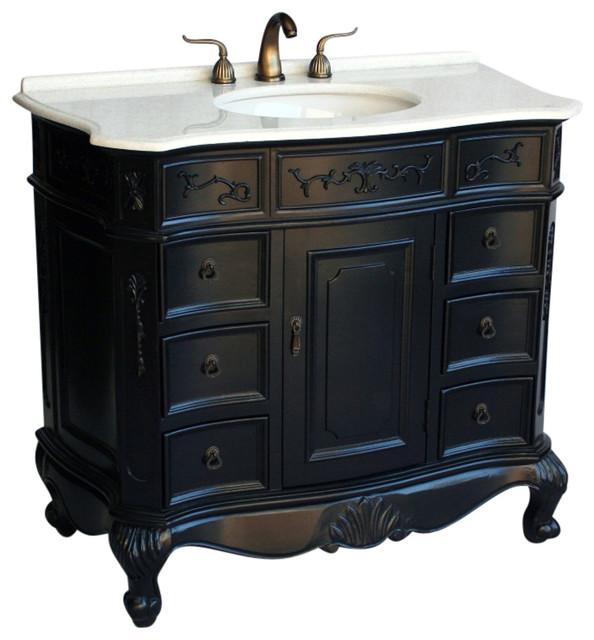 "40"" Antique Style Single Sink Bathroom Vanity Model 4000-Es W."