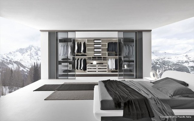Modern Walk In Wardrobe walk-in wardrobes - modern - wardrobe - sydney -eurolife