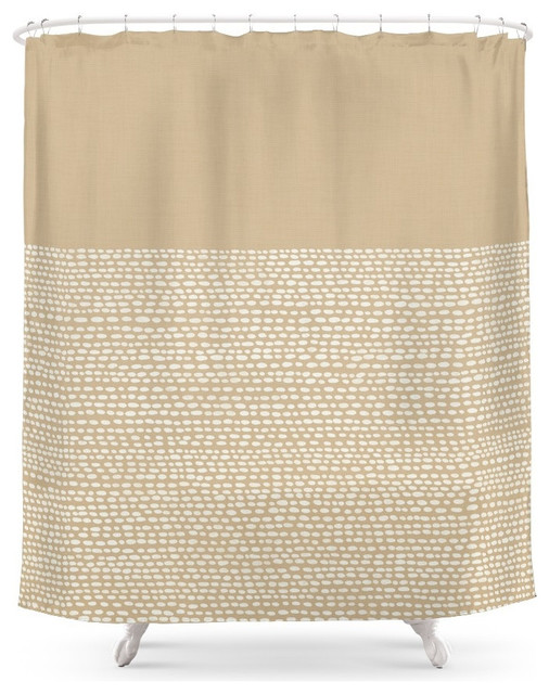 Society6 Riverside, Sand Shower Curtain Contemporary Shower Curtains