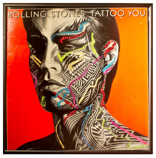 Glittered Rolling Stones Tattoo You Album Contemporary Artwork By Mmm Designs