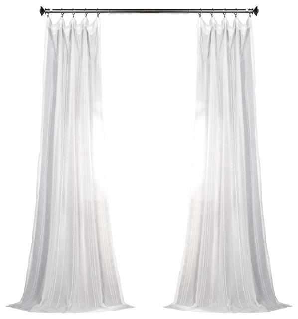 "Storm Gray Blackout Textured Fauxsilk Dupioni Curtain Single Panel, 50""x96"""