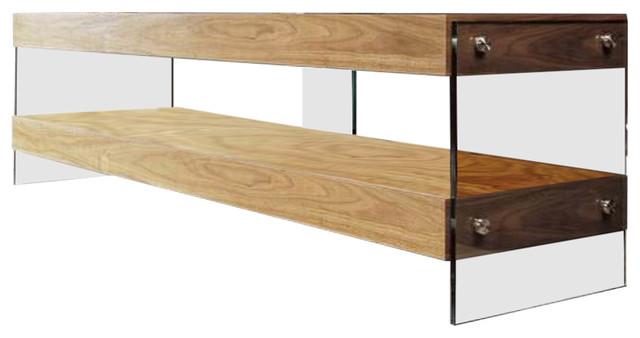 Modrest Aura Modern Walnut Floating Tv Stand Contemporary