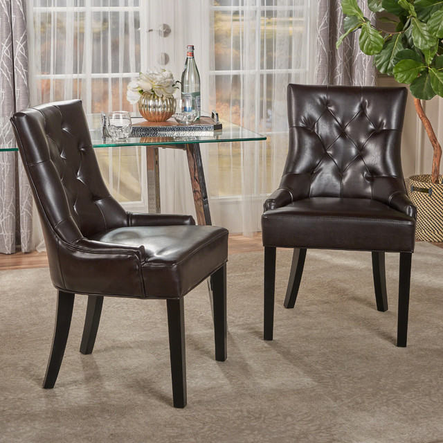 Stacy Leather Dining And Accent Chairs, Set Of 2