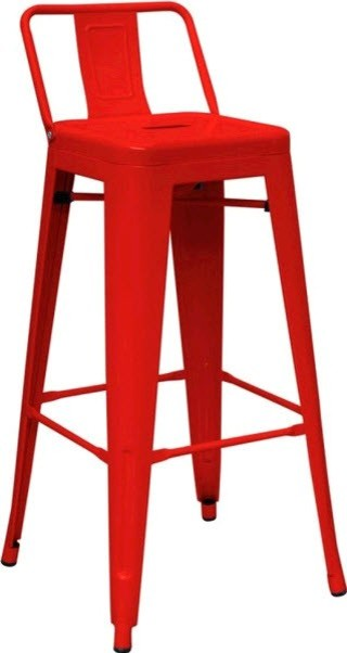 Modrest Modern Red Metal Barstool bar-stools-and-counter-stools  sc 1 st  Houzz & Modrest Modern Black Metal Barstool - Bar Stools And Counter ... islam-shia.org