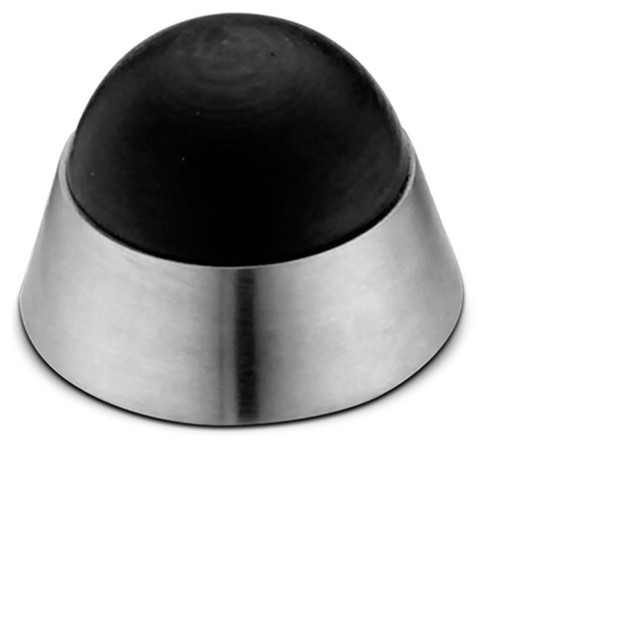 304 Stainless Steel Convex Dome Wall Mounted Door Stop, Satin Stainless