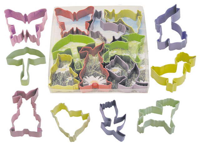 Easter Color 8-Piece Cookie Cutter Set.