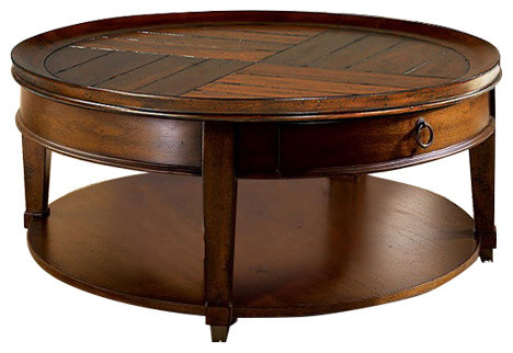 Sunset Valley Round Coffee Table 197 911 Transitional Coffee