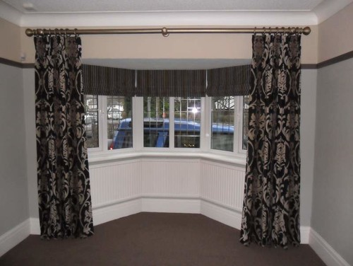 help how would you solve this bow bay window treatment dilemma. Black Bedroom Furniture Sets. Home Design Ideas