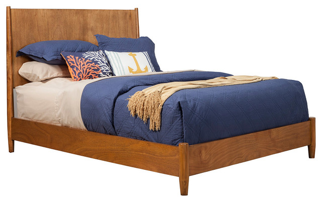 Alpine Furniture Flynn King Panel Bed, Acorn 966-01q.