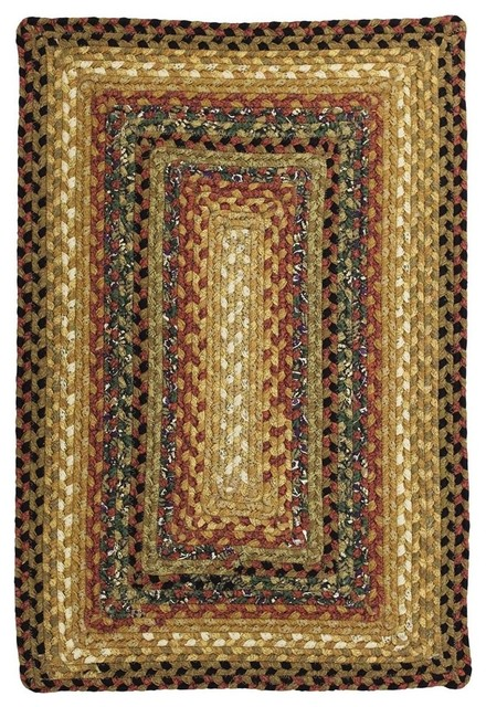 Peppercorn Braided Cotton Oval Rug Farmhouse Area Rugs by Super Area Rugs