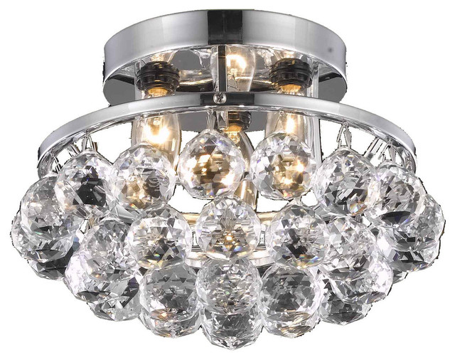 9805 Corona Collection Flush Mount, Chrome.