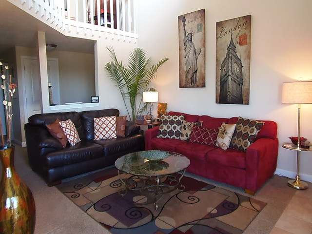 red and brown living room decor. Contemporary Living Rooms  Dining With Red and Brown contemporary living room