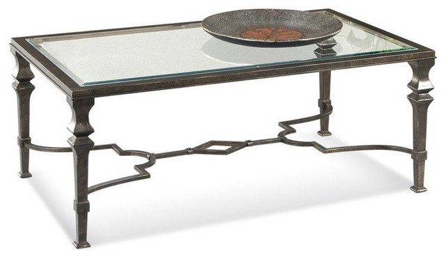 Lido Wrought Iron Cocktail Table Mediterranean Coffee Tables