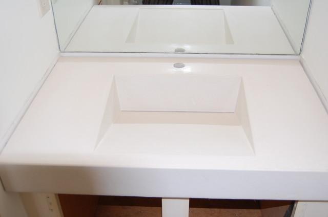 Concrete Ramp Sink Vanity Modern