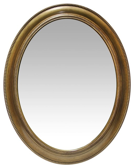 """30"""" Gold Sonore Antique Wall Mirror."""