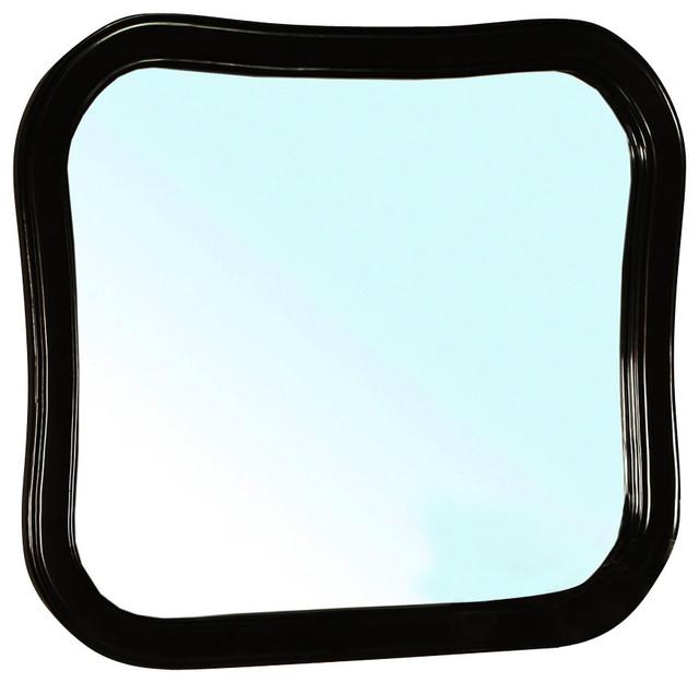 solid wood frame mirror black traditional bathroom mirrors