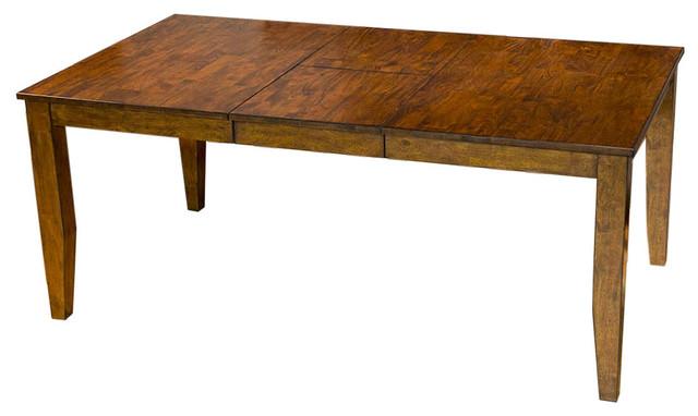 "Mason 72"" Rectangular Leg Table With 1-12"" Butterfly Leaf."