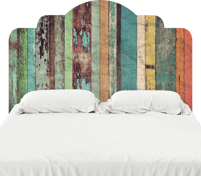 Distressed panels headboard decal farmhouse wall for Mural headboard