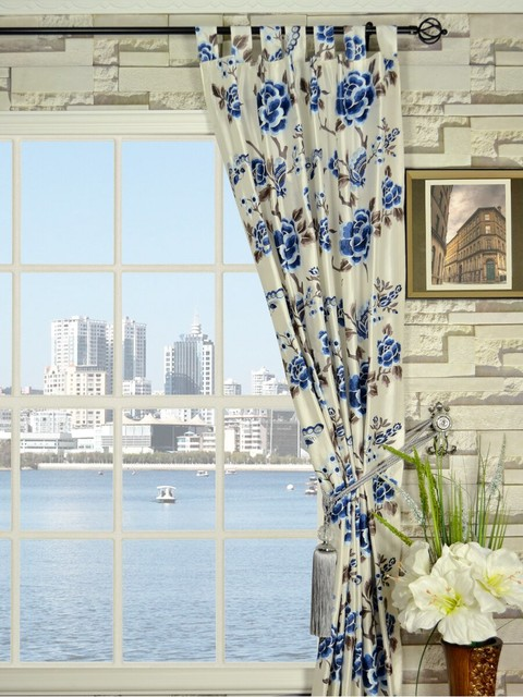 Curtains Ideas Blue Flower Inspiring Pictures Of  Blue Floral Curtains