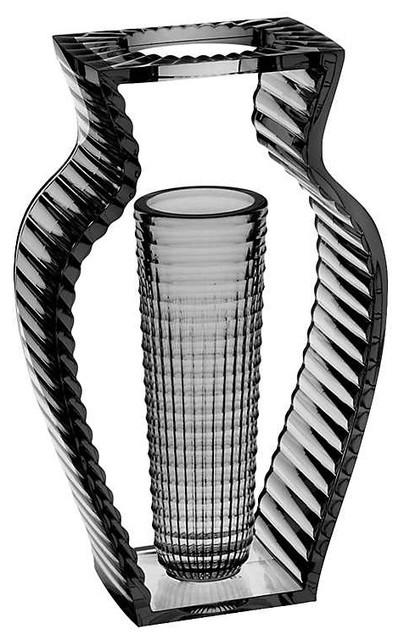 I Shine Tall Vase by Kartell, Smoke