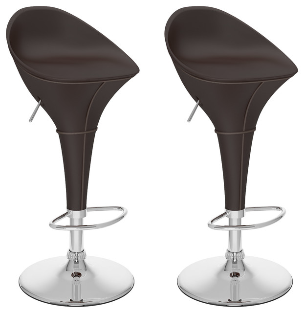 Round Styled Adjustable Bar Stool Espresso Black  : contemporary bar stools and counter stools from www.houzz.com size 622 x 640 jpeg 43kB