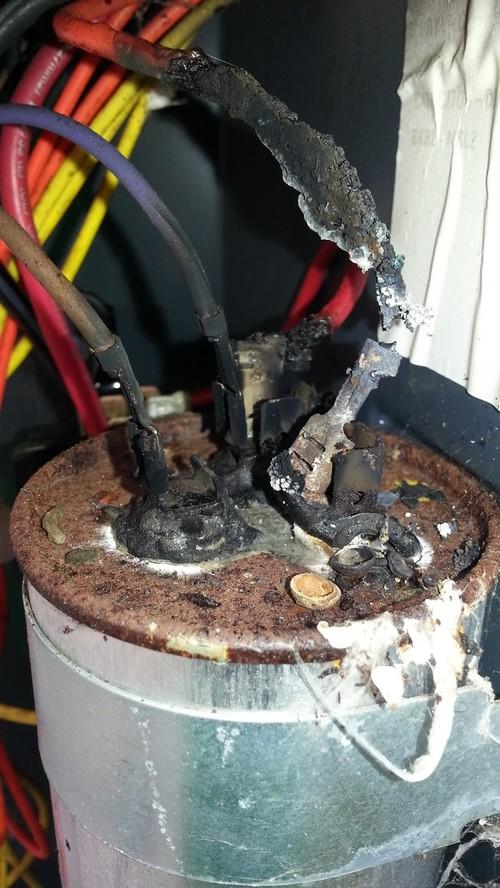 Trane XB14 Start capacitor fail.