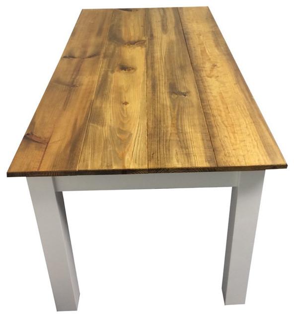 Barn Wood And White Farm Table Farmhouse Dining Tables