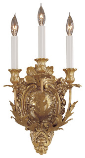 Metropolitan N9109 3 Light 7 5 W Candle Style Wall Sconce Victorian Wall Sconces By Buildcom Houzz