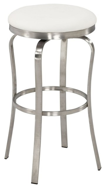 Excellent Chintaly 1193 Modern Backless Bar Stool White 29 92 Andrewgaddart Wooden Chair Designs For Living Room Andrewgaddartcom