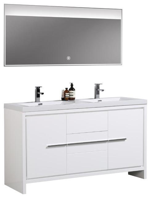 Double Sink Modern Bathroom Vanity