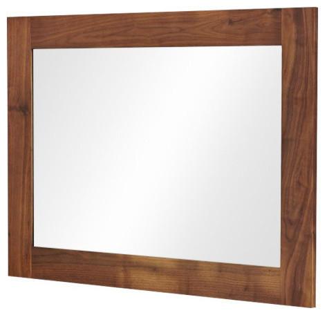 Mayan Solid Walnut Medium Mirror