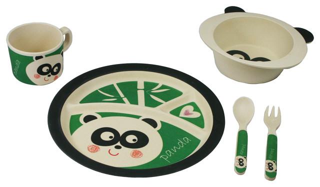 Ecobamboo Ware Kidsbabiestoddlers Dinnerware Set Peyton The Panda