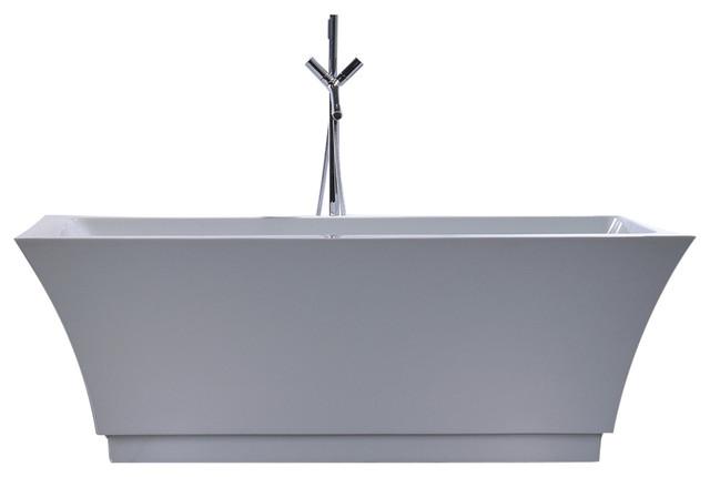 """Acrylic Tub, White, 67""""."""