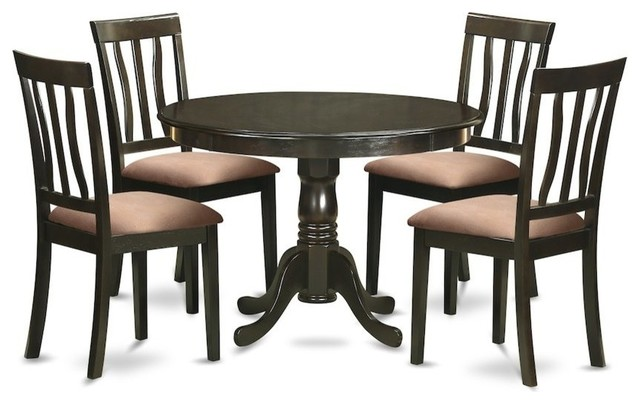 5-Piece Kitchen Table Set, Dining Table And 4 Dinette Chairs