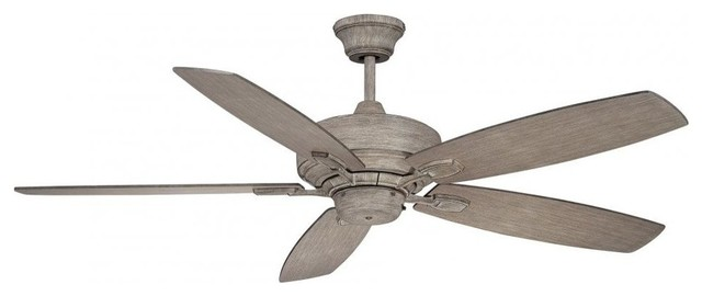 "Savoy House Windstar 52"" 5-Blade Ceiling Fan, Aged Wood."