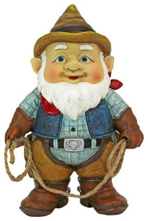Country Cowboy Klaus Garden Gnome Statue Southwestern Garden Statues And Yard Art By Design Toscano