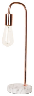 Catalina Lighting Rosie 19-Inch Desk Lamp, 20458-000 Rose Gold and Faux Marble