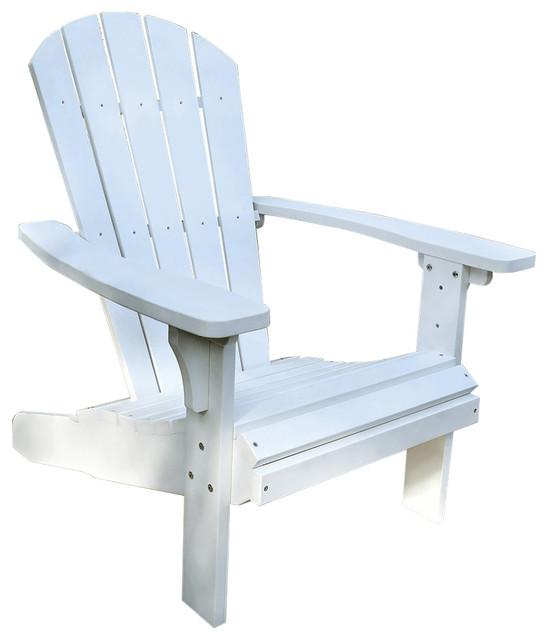 Royal Palm Plastic Adirondack Chair   Beach Style   Adirondack Chairs   By  VirVentures