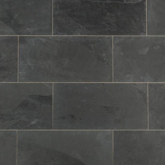 Janeiro Slate Tiles Montauk Black Sawn Natural 12 X24