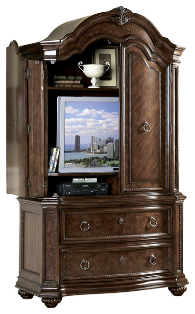 Homelegance Prenzo 86 Inch Armoire In Brown Traditional
