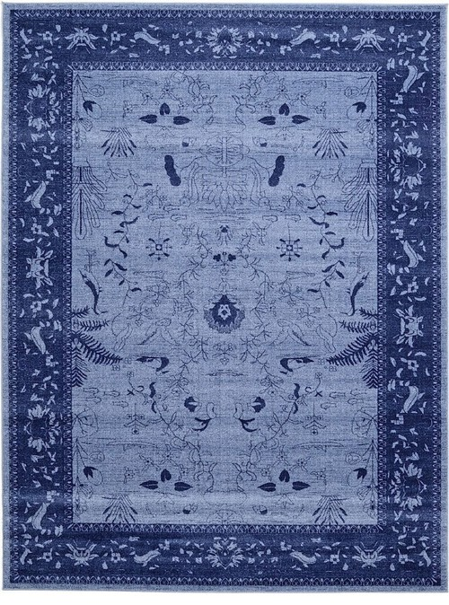 Traditional Soledad 9'x12' Rectangle Indigo Area Rug