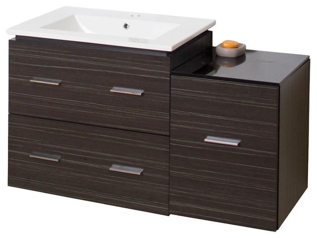 Plywood-Melamine Vanity Set, Dawn Gray.
