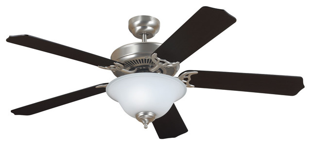Quality Max Plus Ceiling Fan, Brushed Nickel.